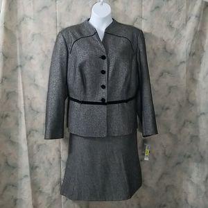 NWT John Meyer Herringbone career skirt suit 24W